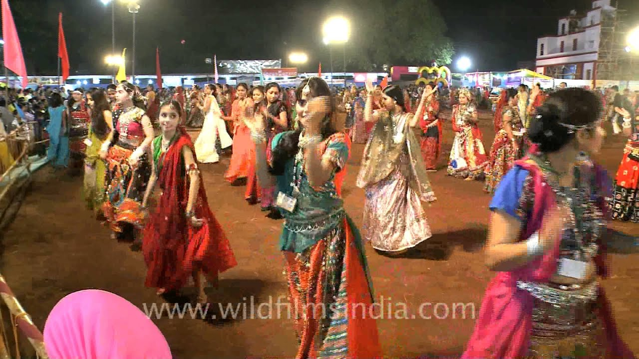 Indian Women Participate In Garba Dance During Navratri