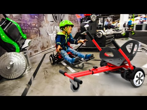 5 YEAR OLD DRIFTING HOVERBOARD GO CART!!!