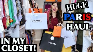 HUGE PARIS HAUL - Unboxing & Styled IN MY CLOSET! ft Chanel, Hermes, Lilysilk, Faure Le Page