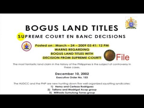 BOGUS LAND TITLES - SUPREME COURT EN BANC DECISIONS