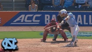 UNC's Dallas Tessar Clears The Bases