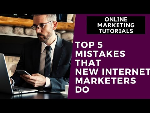 Online Marketing Tutorial For Beginners Part  9   Top 5 Mistakes That New Internet Marketers Do thumbnail