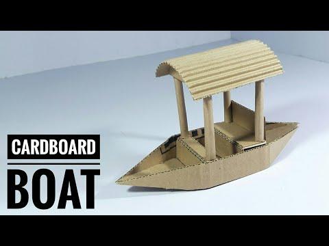 DIY - Cardboard Boat Making   Best Out Of Waste From Waste Cardboard   Reuse Waste Cardboard