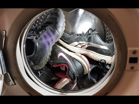 Experiment - Sneakers - in a Washing Machine - Centrifuge