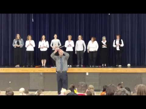 Wooster Christian School Teachers at the talent show