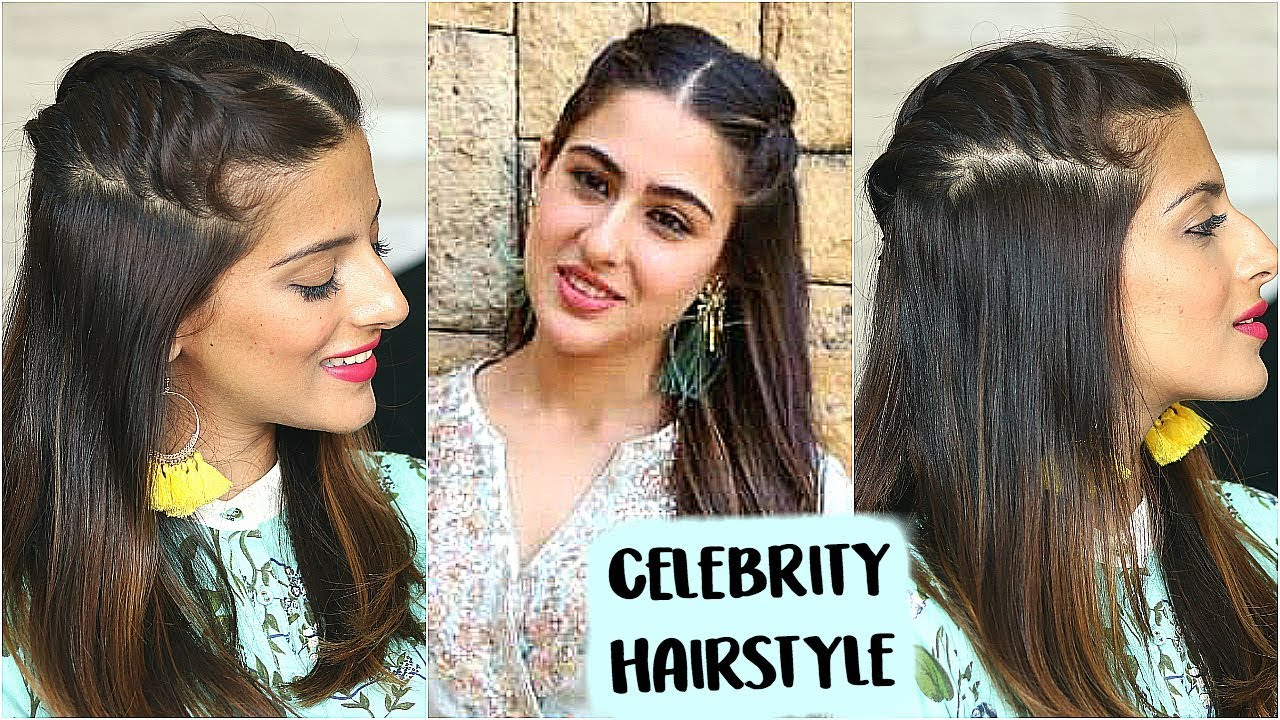 5 Min Sara Ali Khan Hairstyle For An Indian Occasion Party Celebrity Inspired Indian Hairstyle