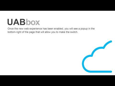 New UAB Box Online Experience
