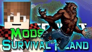 Minecraft: Survival Island Mods Ep. 9 - Nemo The Werewolf!