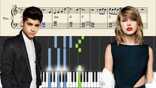 Taylor Swift Zayn I Don 39 t Wanna Live Forever - Piano Tutorial SHEETS.mp3