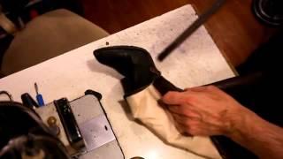 Замена супинатора. Как работать с клиентом. Ремонт обуви.(В этом видео приведу пример, как работать с клиентом. Клиент обратился с проблемой, сломан один супинатор...., 2013-11-03T14:17:40.000Z)