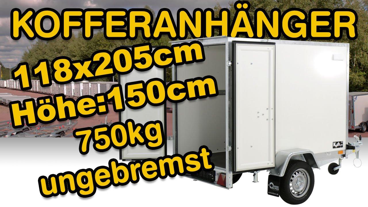 kofferanh nger 118x205cm h he 150cm 750kg ungebremst bei. Black Bedroom Furniture Sets. Home Design Ideas