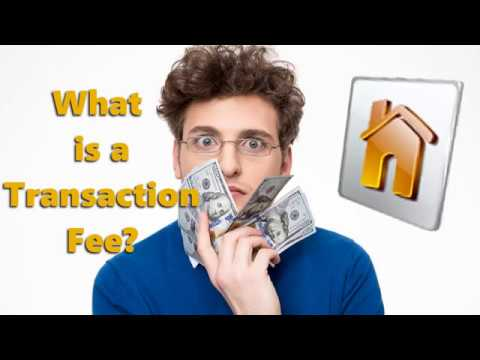 What Is A Transaction Fee?