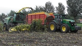 Chopping corn with John Deere