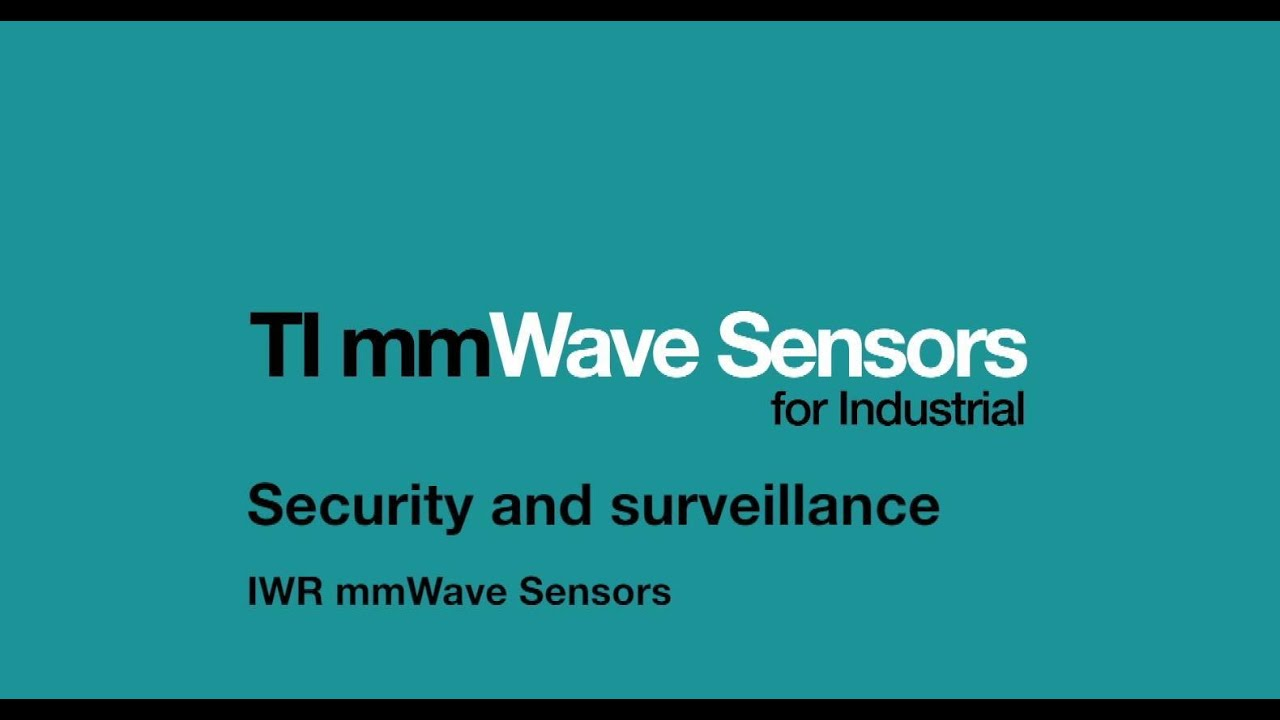 Security and surveillance using IWR mmWave sensors