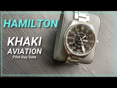 Interstellar filmde olan saat | Hamilton Khaki Aviation Pilot Day Date  H64611135