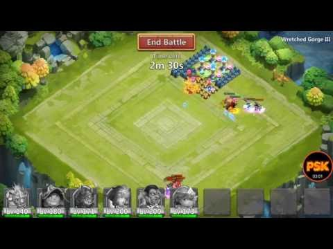 Castle Clash Solo Wretched Gorge III (WG 3) Alone