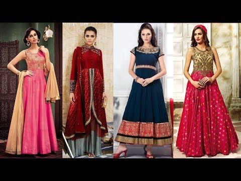 Long Anarkali Gown Dress Designs 2017 Part 09