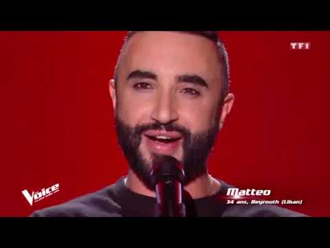 Matteo sings La Wally | The voice France 29/02/2020
