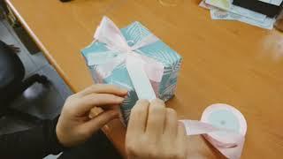 【禮物包裝-緞帶篇】如何在方塊禮物上打一個美麗的蝴蝶結|愛禮物職人教學