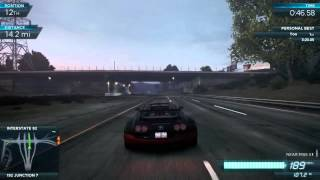 NFS Most Wanted 2012  Bugatti Veyron Vitesse Top Speed 280mph   451 kmh Ultimate Speed Pack DLC