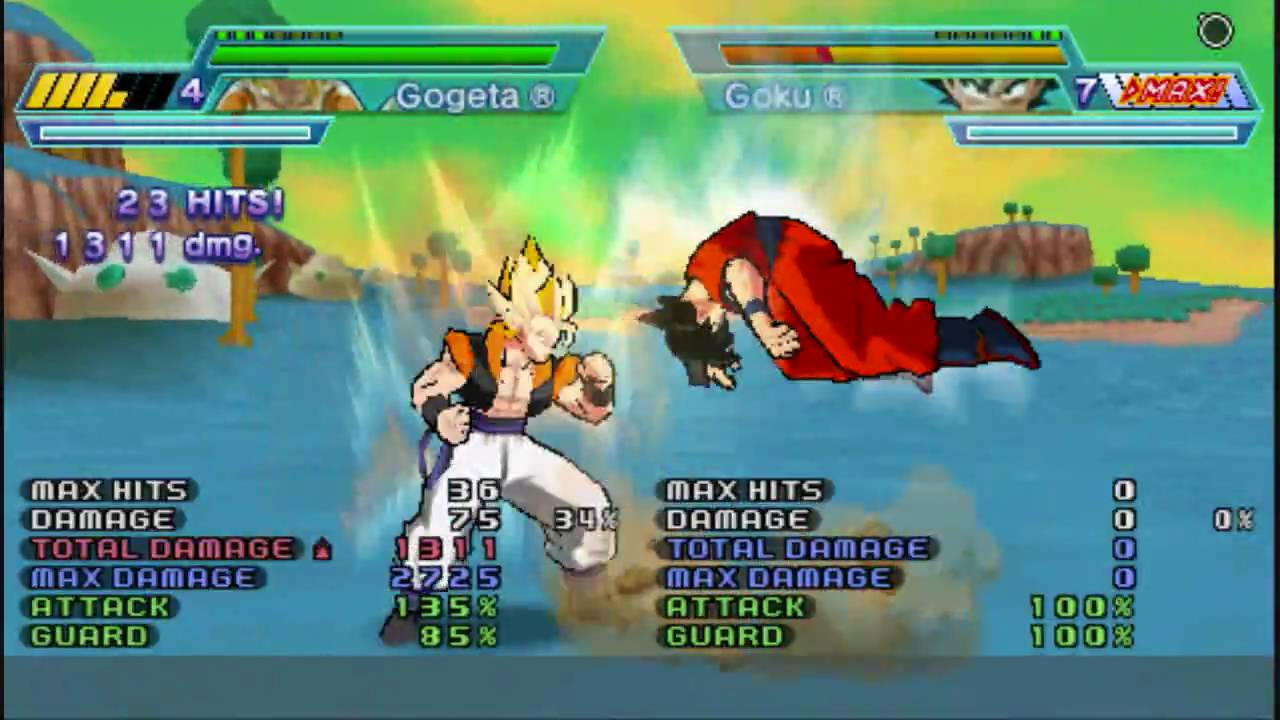 Dragon Ball Z Shin Budokai Another Road - Gogeta combo