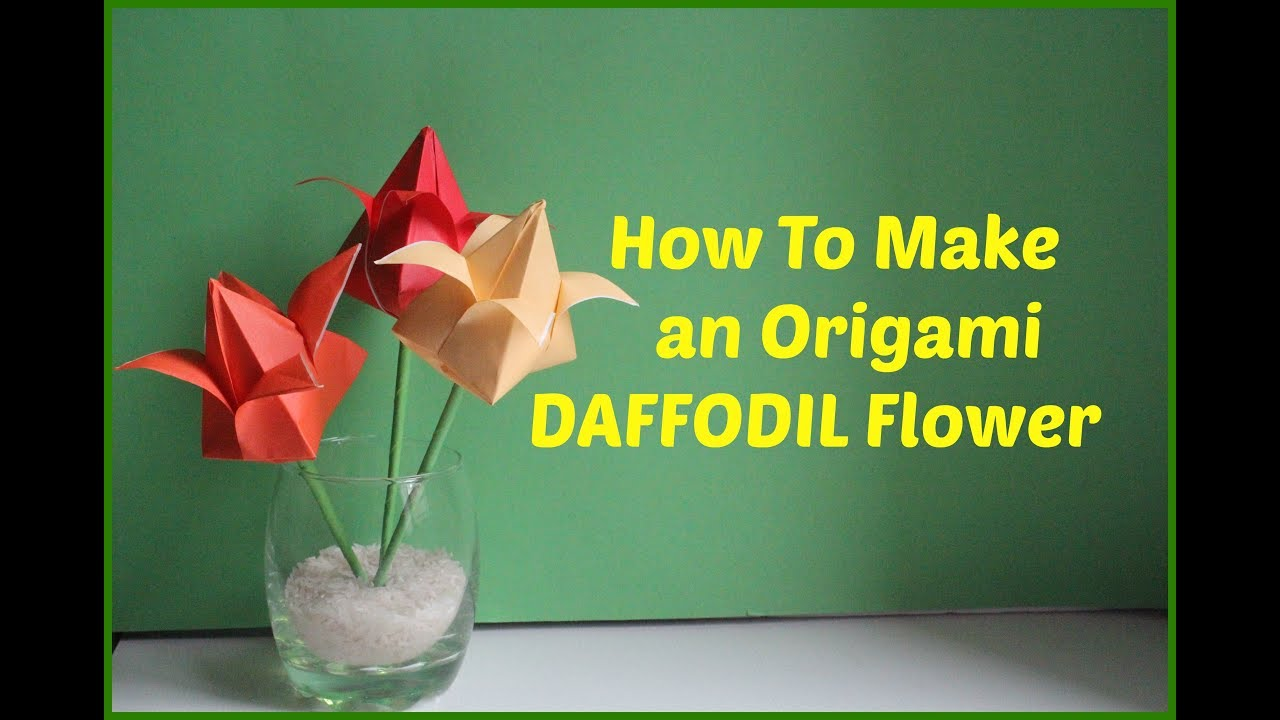 How To Make An Easy Origami Flower With 4 Petals Youtube