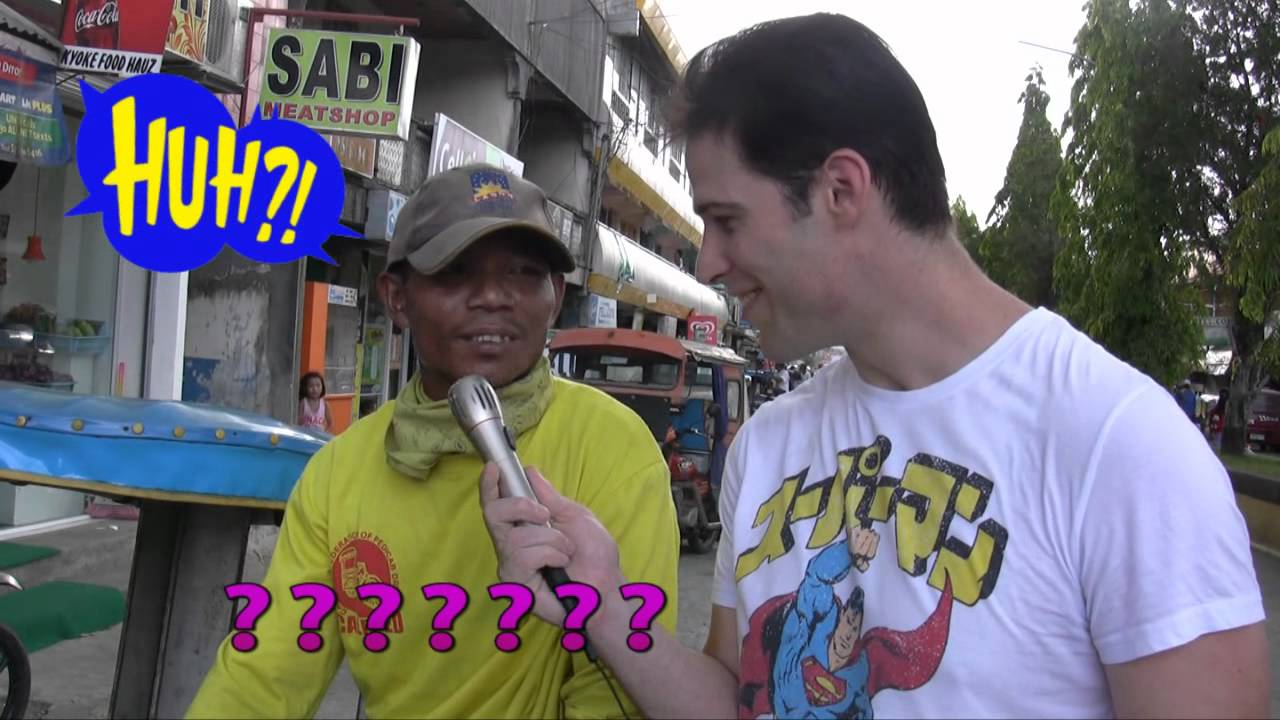 Filipinos try to pronounce an American's Name
