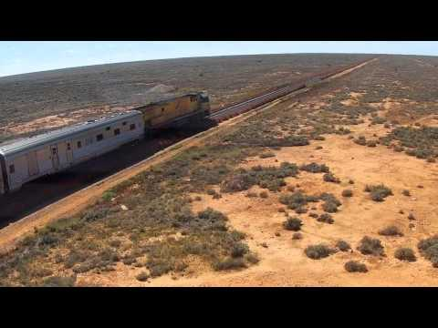 Indian Pacific - Excerpt From Trans Australian Railway DVD - Mundrabilla - Nullarbor Plain - DVD