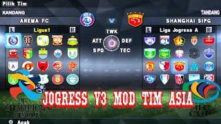New Textures {HD} Jogress v3 add Tim Liga Indonesia & Tim AFC Cup & ACL 2018 + Savedata | Goblin tv