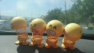 Cute Swinging Head Car Emoji Dolls, Shiraz   شیراز