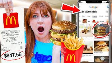 I Let Google Images CONTROL What I Eat for 24 hours! *FOOD CHALLENGE*