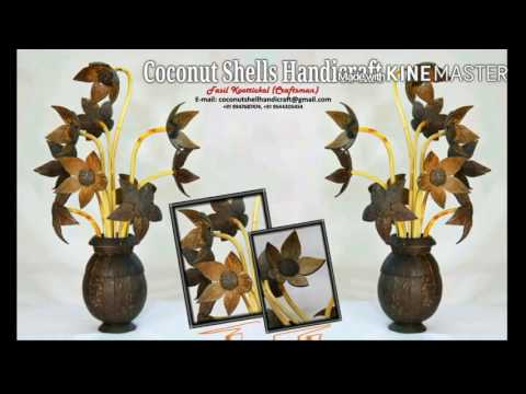 Coconut shell handicraft product video