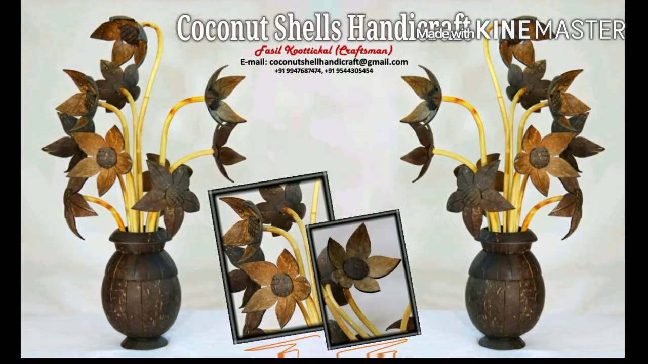 Coconut Shell Handicraft Product Video Youtube