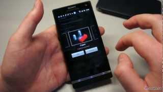 обзор Sony Xperia S - бенчмарки, музыка и видео