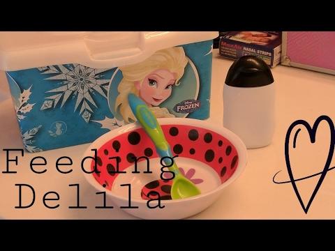 Feeding Delila!