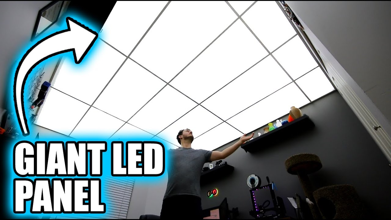 Turning My Entire Ceiling Into A Light Fixture Youtube