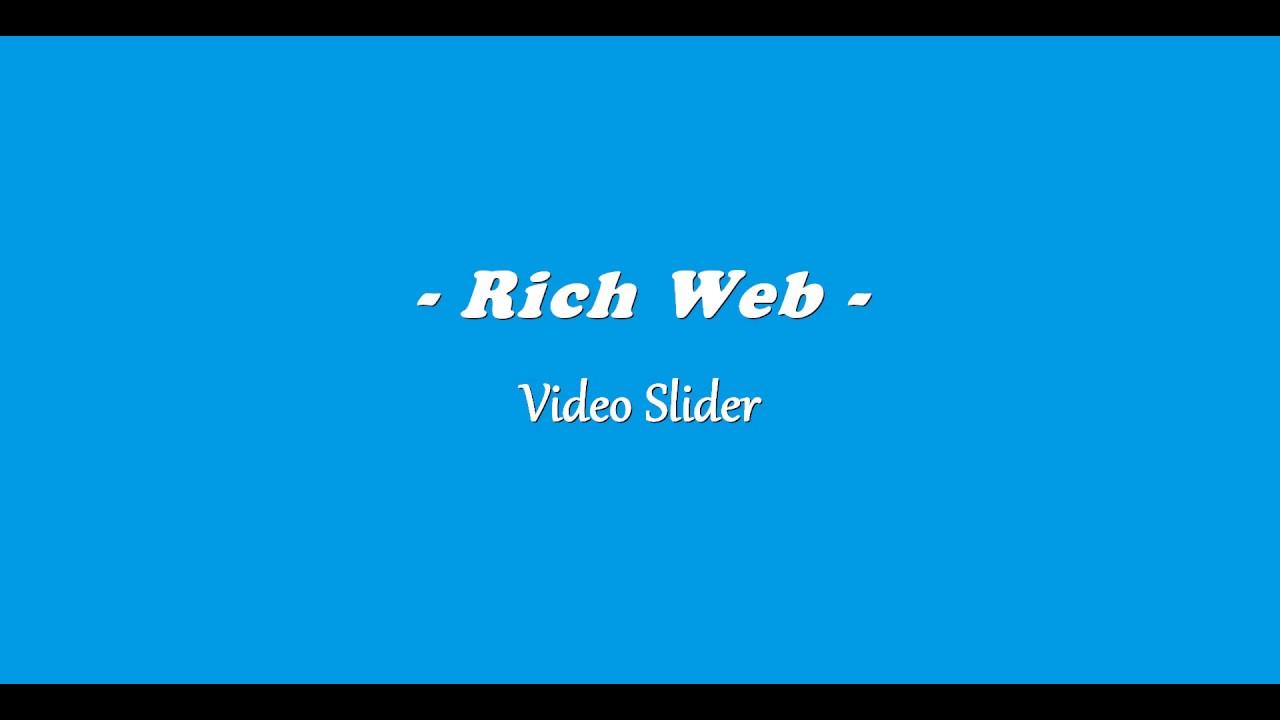 Video Slider – Slider Carousel – WordPress plugin