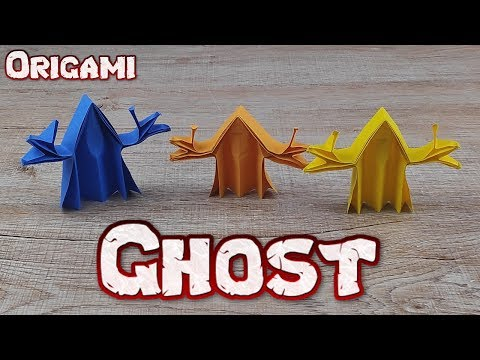 Origami 3D Ghost Paper | How To Making An Easy Body Ghost Tutorial | DIY Paper Halloween Craft Idea