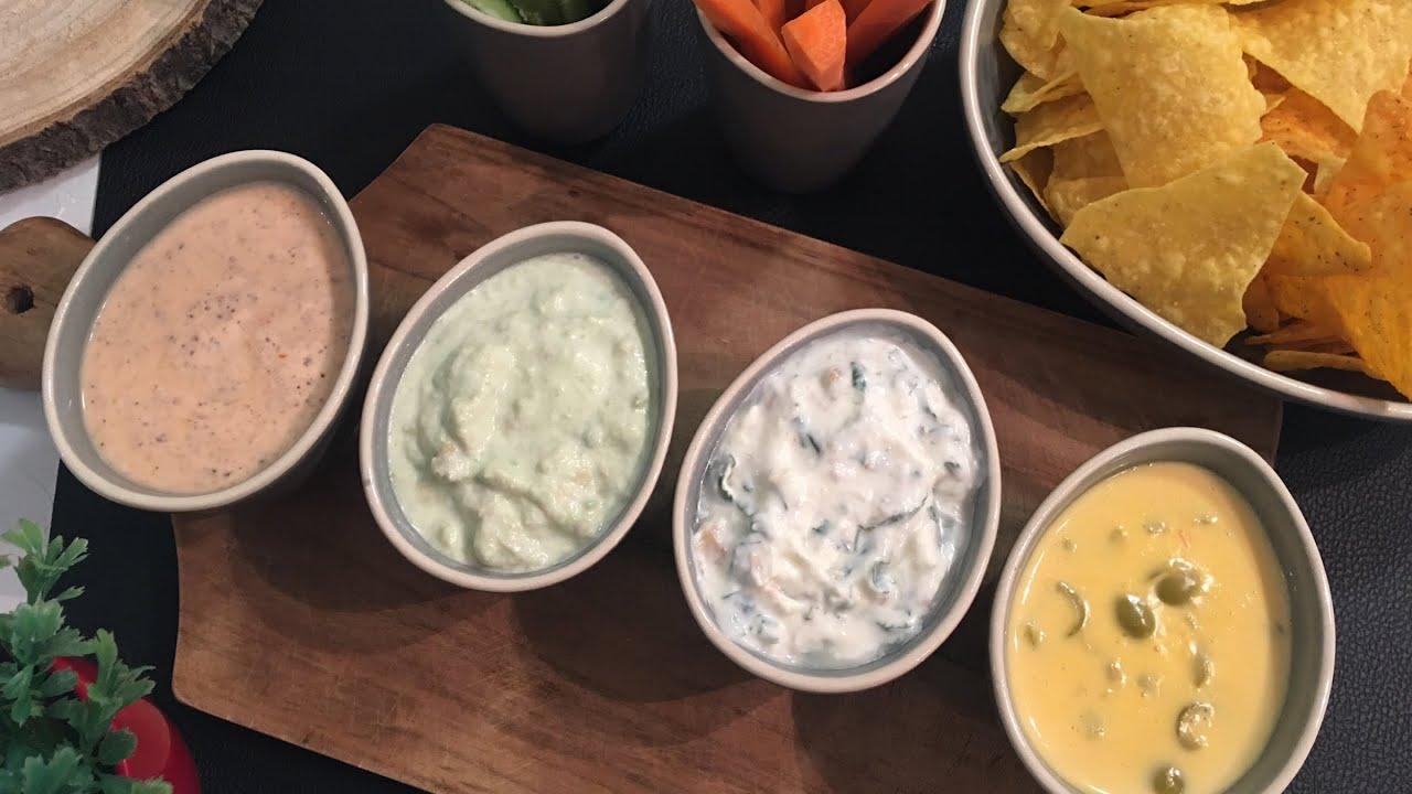 تغميسات للشيبس والخضار Dip Recipes For Chips And Vegetables Youtube