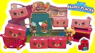 Shopkins Happy Places Season 3 Petkins Blind Bags Macy Macaron & Pippa Melon Shop At Small Mart
