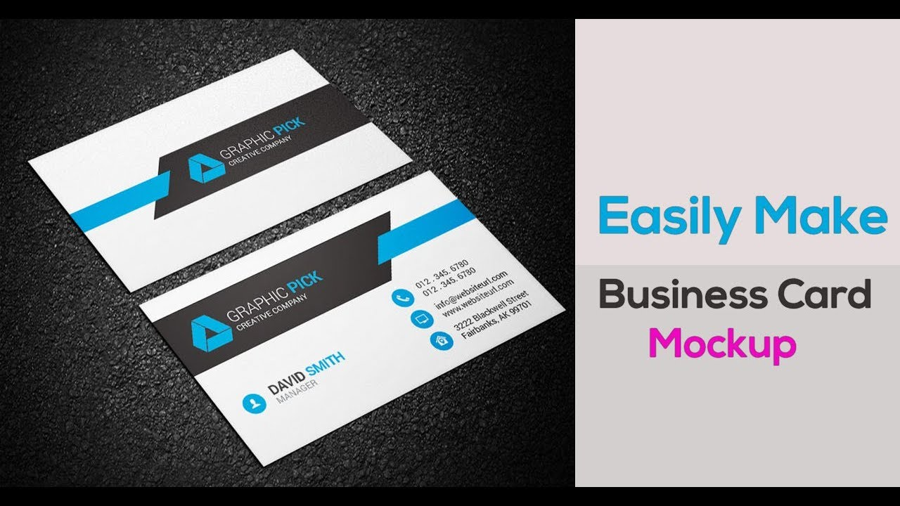 Easily make business card mockup in photoshop cs6 youtube easily make business card mockup in photoshop cs6 reheart Images