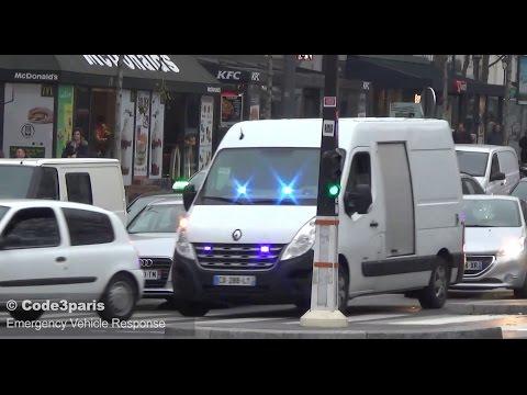 Police Cars Responding in Paris