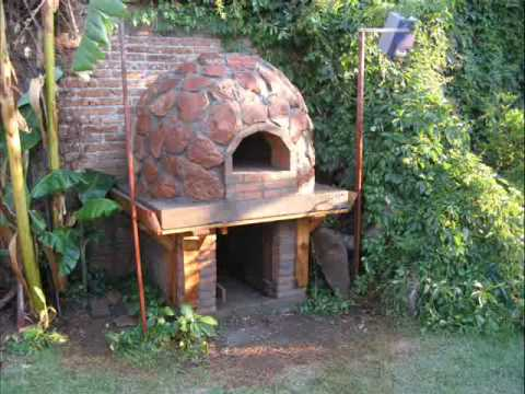 Horno de barro y piedra pizza oven en durango youtube for Horno de piedra para pizza