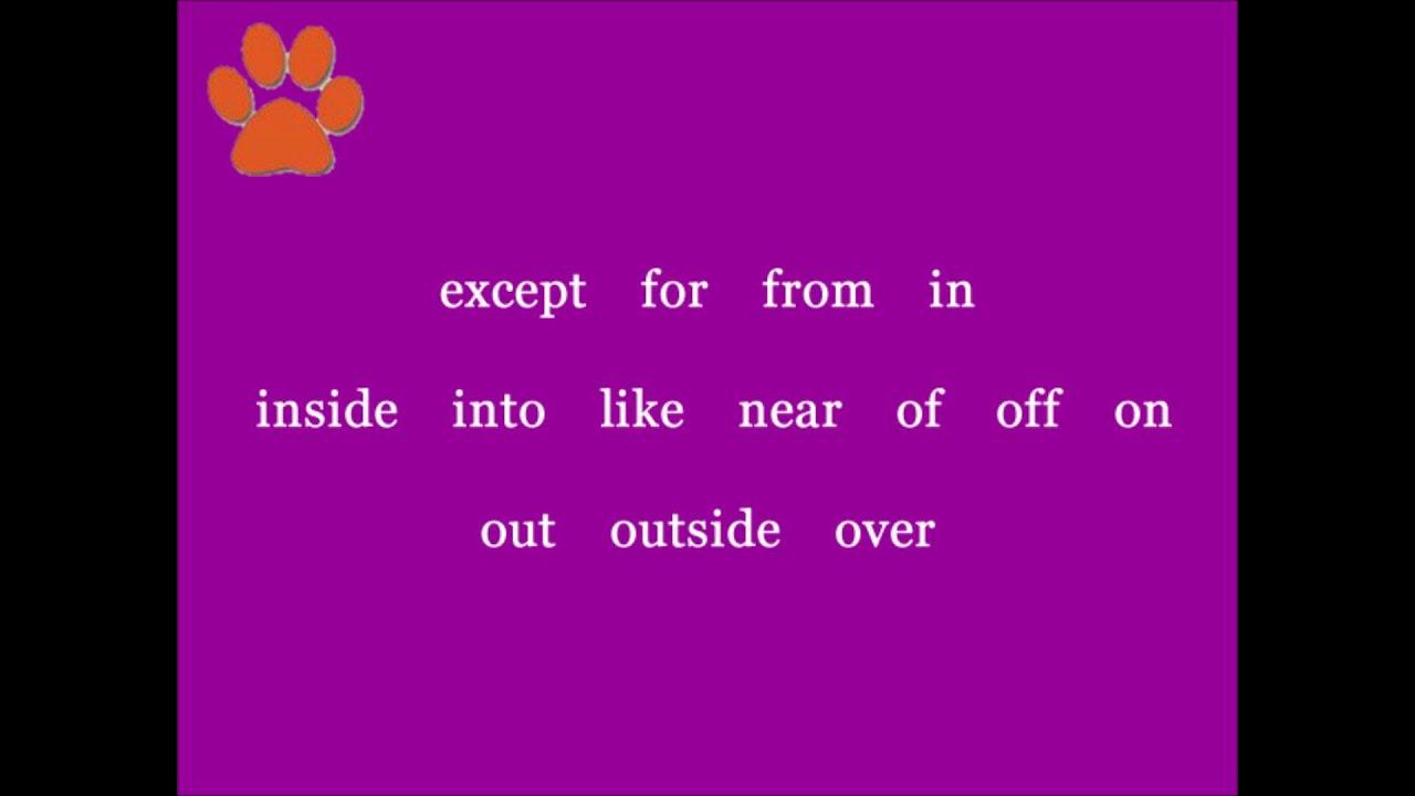 preposition jingle youtube