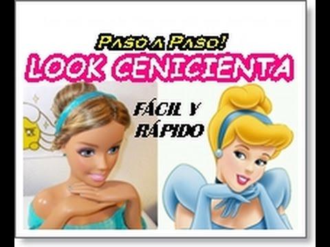 peinado princesa cenicienta ¡paso a paso! - youtube