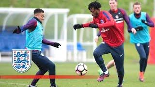 England U21's wonder goal v Senior team (Sterling, Hart, Sturridge) | Inside Training