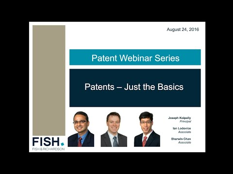 Webinar | Patents - Just the Basics
