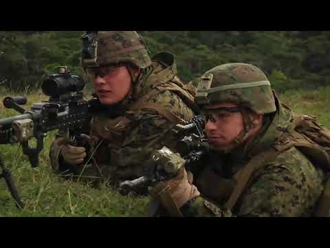 Marines from Charlie Company conduct pre-deployment training in OKINAWA