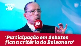 Com alta médica, fica a critério de Bolsonaro participação em debate, diz cirurgião