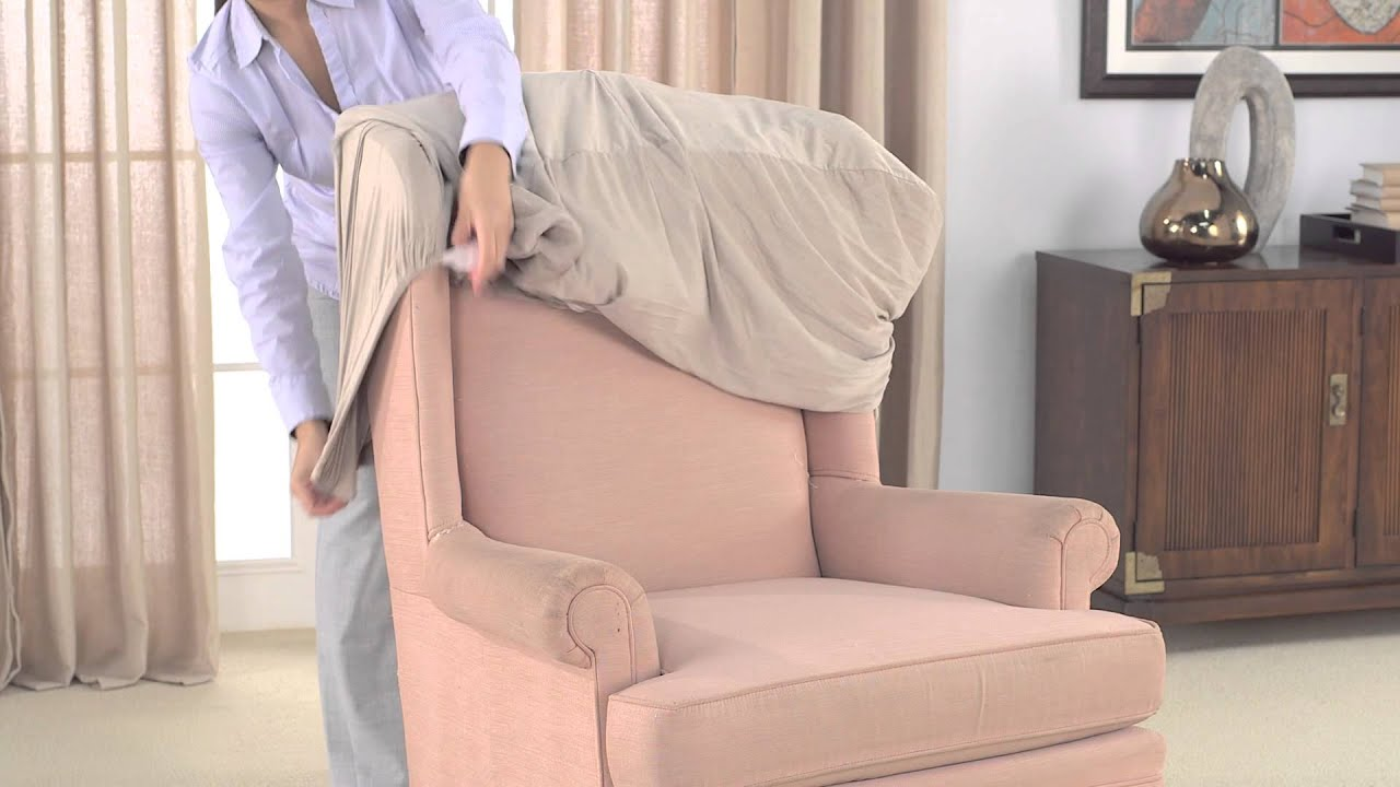 How To Install Stretch Wing Chair Slipcovers